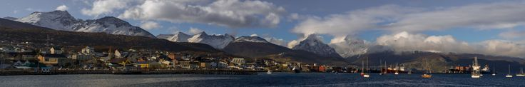 https://flic.kr/p/qjoNEd | Ushuaia Panorama | Southernmost city in the world, Ushuaia. I expected it to be a much grimmer place than it was. It's a fairly typical ski resort town - never to be mistaken for Aspen, to be sure - and popular with tourists both Argentine and foreign even in the summer.   I think this was something like 12 exposures, resized from a 100MP original.