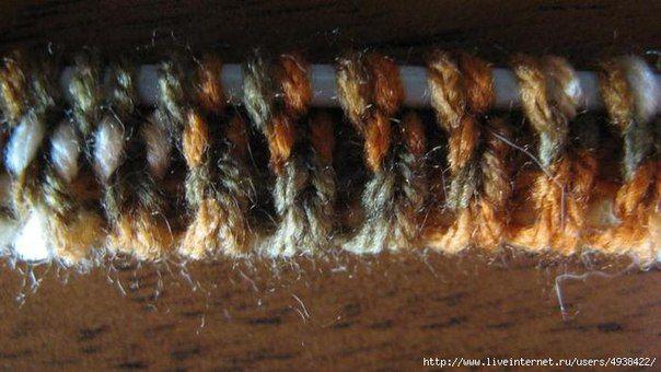 Эластичный край изделий, эластичная резинка 1*1 и 2*2.