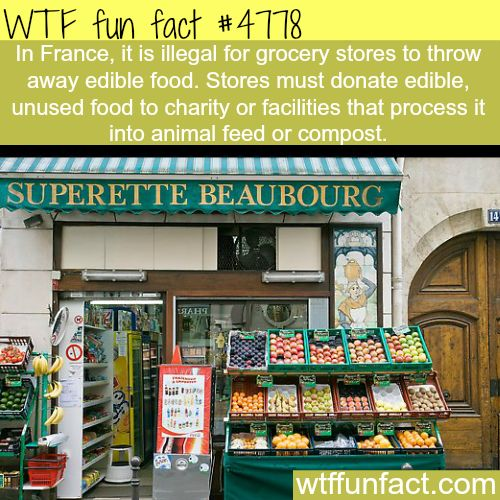 Such a good Idea France food laws - WTF fun facts. We need that in america