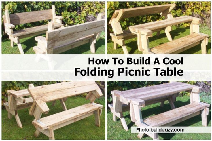 Wooden Folding Picnic Table Bench Plans