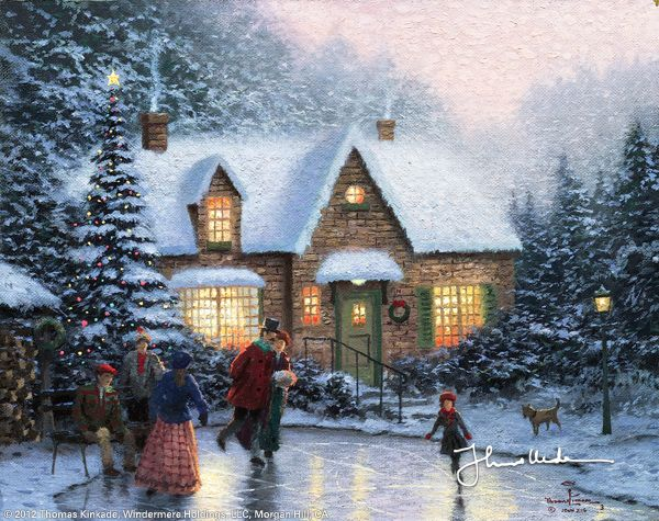 Skater's Pond by Thomas Kinkade
