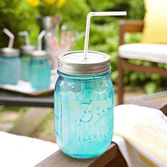 mason jar drink container