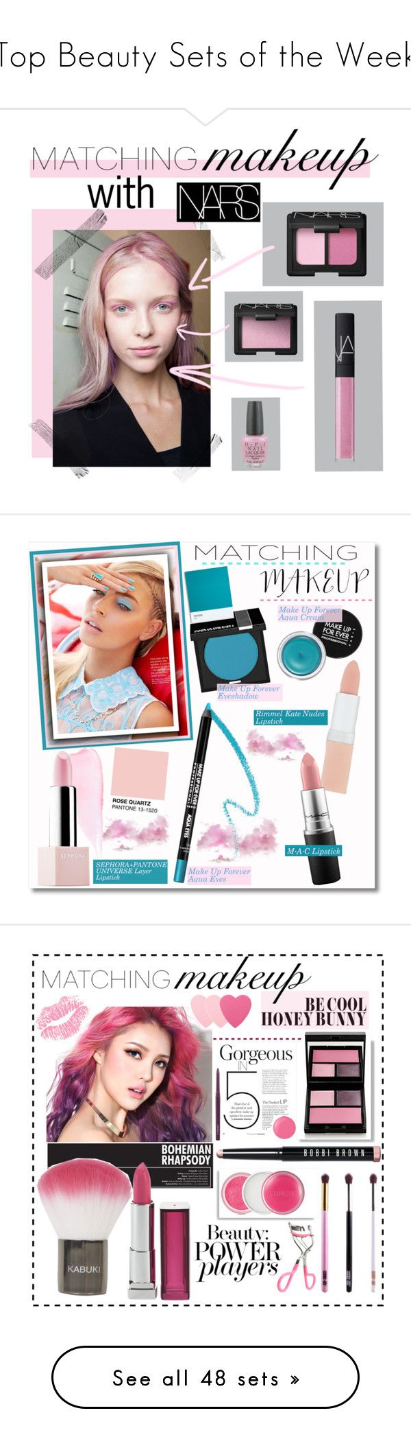 """""""Top Beauty Sets of the Week"""" by polyvore ❤ liked on Polyvore featuring beauty, OPI, NARS Cosmetics, contestentry, matchingmakeup, VaVa, MAKE UP FOR EVER, Sephora Collection, Rimmel and MAC Cosmetics"""