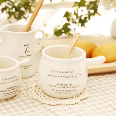 Mini with a handle milk pot ceramic pudding cup milk cup zakka 08
