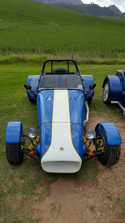 Lotus 7 replica, blue. Garden Route Lotus Seven.