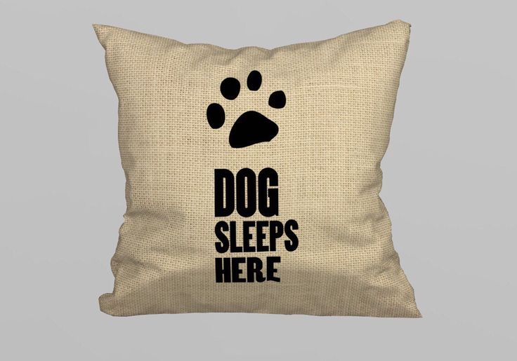 Dog Sleeps Here Pillow 45x45cm - (without Filling) by magicdallas on Etsy https://www.etsy.com/listing/249374895/dog-sleeps-here-pillow-45x45cm-without