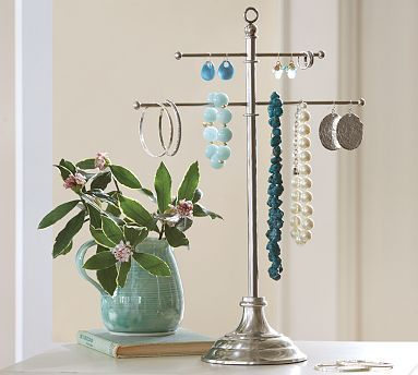 Vintage Metal Jewelry Stand #potterybarn