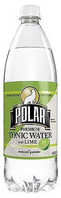 LOT-OF-3-Polar-Premium-Tonic-Water-With-Lime-1-Liter-Bottles-Natural-Quinine-NEW