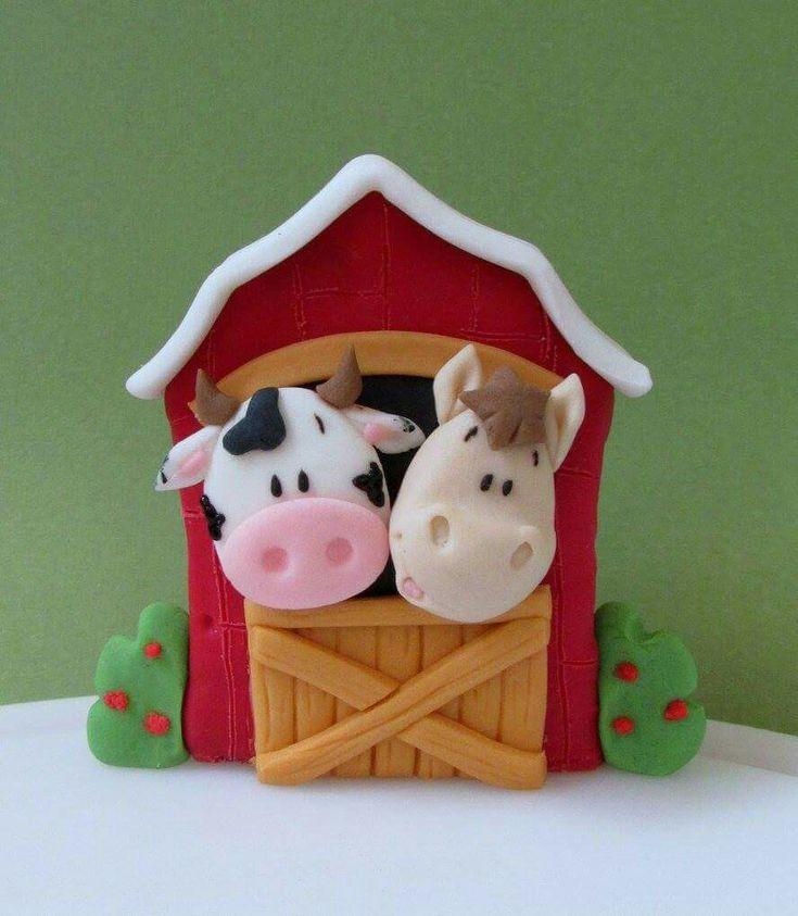 Resultado de imagen para animalitos de la granja en porcelana fria