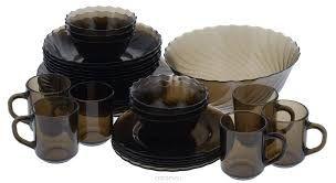Картинки по запросу белые стеклянные тарелки наборы