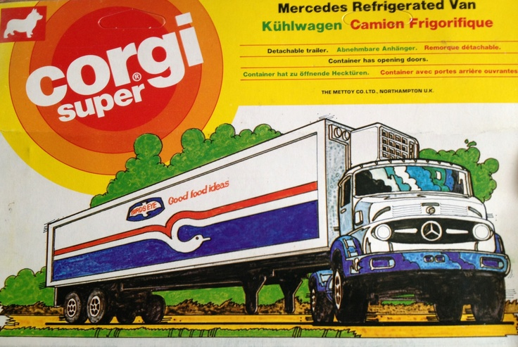 1978 Corgi Super Mercedes refrigerated van