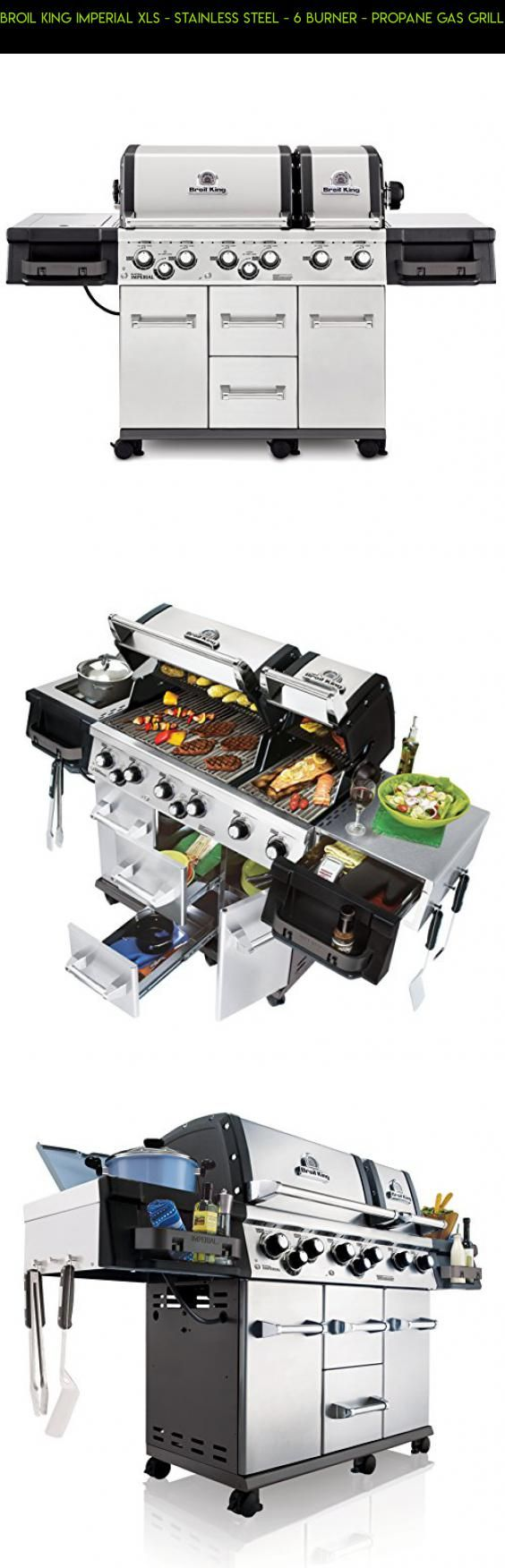 Broil King Imperial XLS - Stainless Steel - 6 Burner - Propane Gas Grill #drone #grills #tech #racing #parts #gadgets #camera #burner #products #technology #6 #kit #shopping #plans #fpv