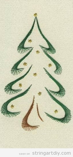 Christmas tree String Art | String Art DIY | Free patterns and templates to make your own String Art