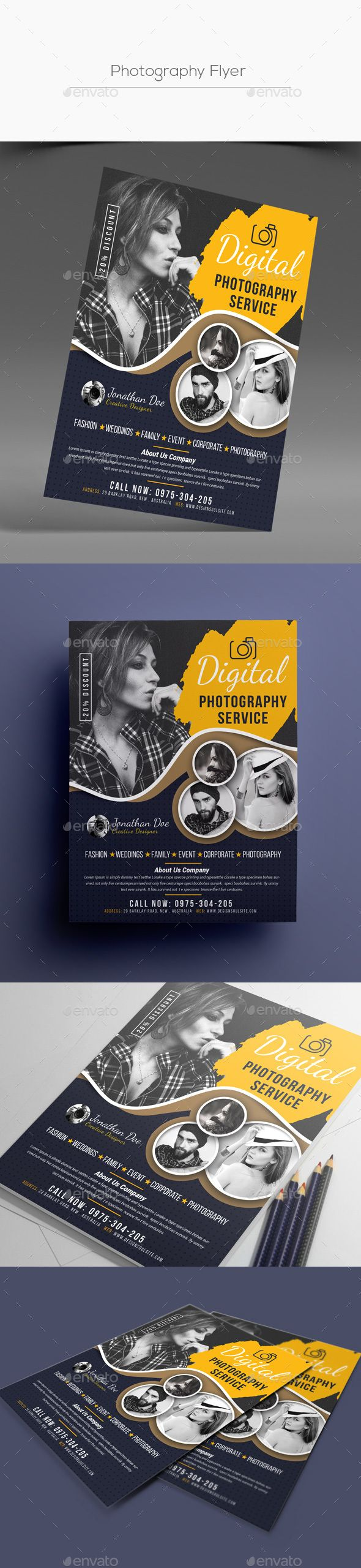 #Photography #Flyer #template - #Photographer #Corporate #business Flyers #design. download: https://graphicriver.net/item/photography-flyer/20288601?ref=yinkira