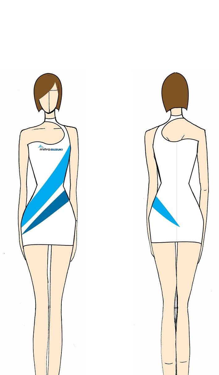 Uniform of Mitra Suzuki's Sales Promotion Girl