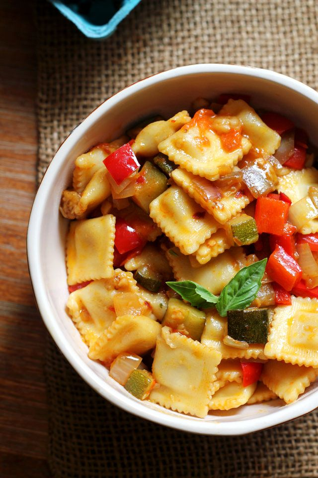 Spicy Ratatouille with Ravioli | Joanne Eats Well With Others