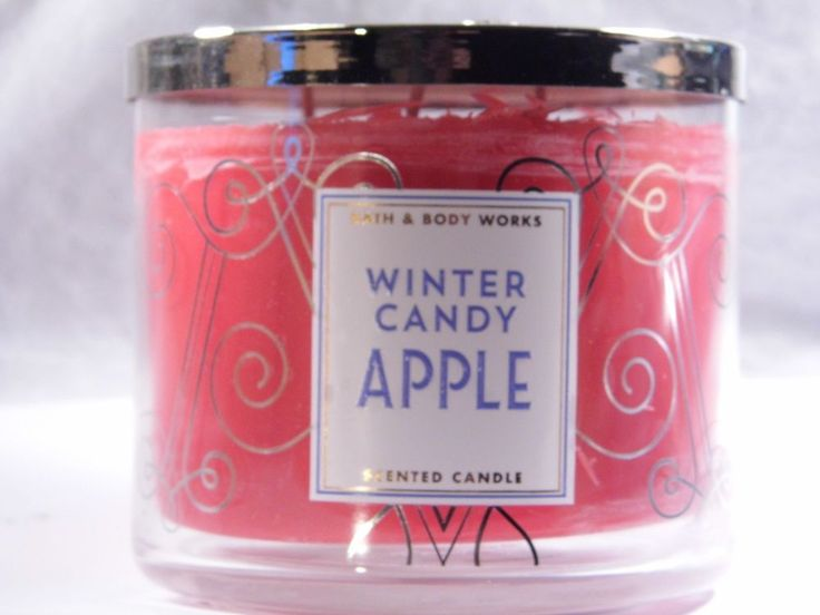 Bath & Body Works Large 3-wick WINTER CANDY APPLE Scented Candles Brand New #BathBodyWorks