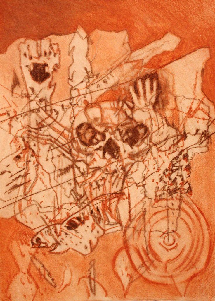 Shamanic Past | Pastel on Paper | 2015