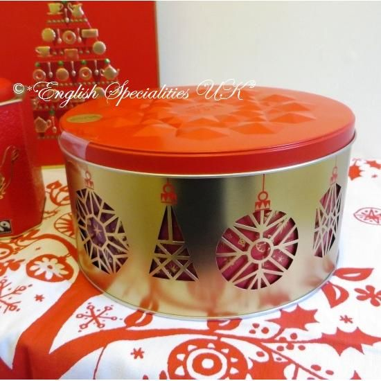 M&S】Christmas Bauble Musical Tin マークス&スペンサー クリスマスバーブル オルゴール付きビスケット缶