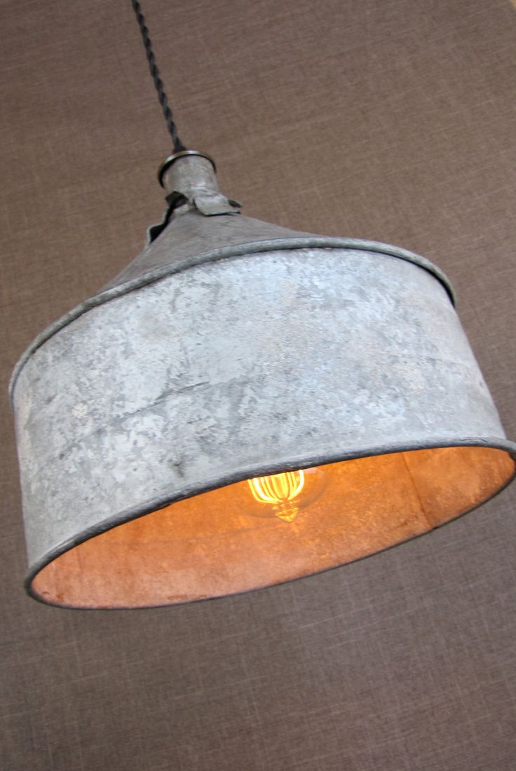 Sourdough Farm Funnel, Upcycled Lighting with Edison Bulb. $145.00, via Etsy.