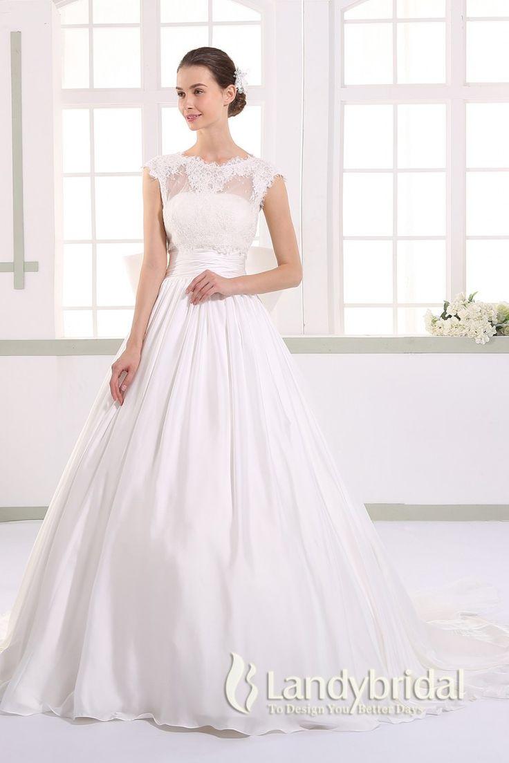 ウェディングドレス プリンセス 2way 取り外し式トレーンとボレロ ビスチェ フレンチ袖 JWLT15017 価格 ¥61,452