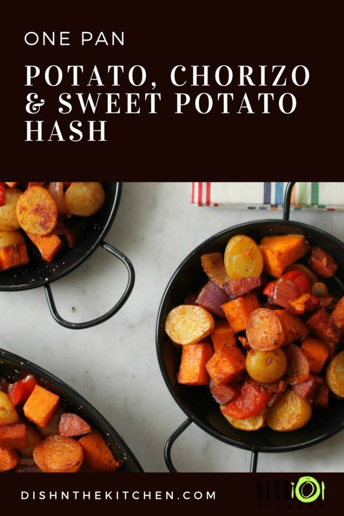Jul 14, 2020 – This Little Potato Chorizo and Sweet Potato Hash is the perfect one pan family dinner for those crazy wee…