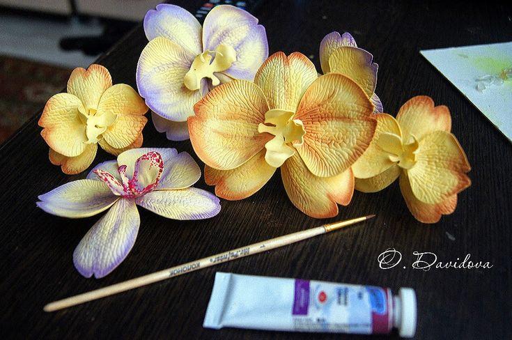 """Очумелые ручки: МК """"Орхидея"""" из фома! О.Давыдова"""