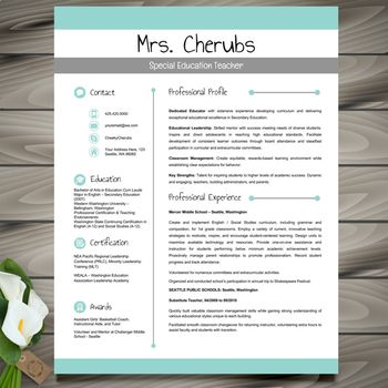 Resume Template + Cover and Reference Letters (Green) - PO