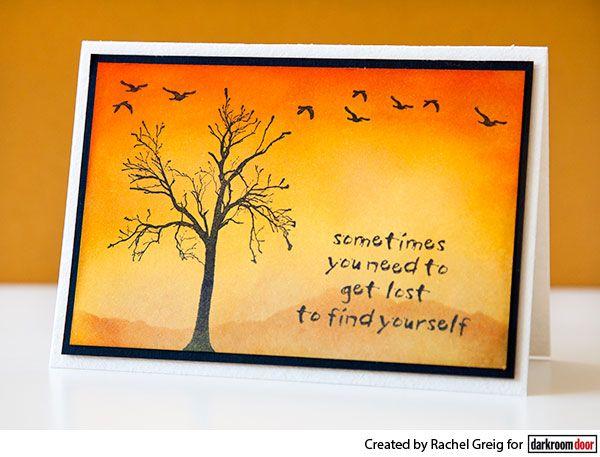 Card by Rachel Greig using Darkroom Door Bare Tree Eclectic Stamp