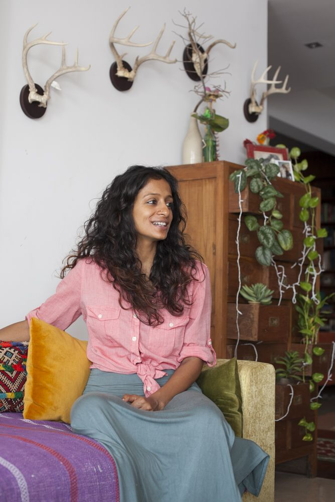 A tour of stylist and designer Annah Chakola's bohemian Kochi home #kerala #interiors #boho #india