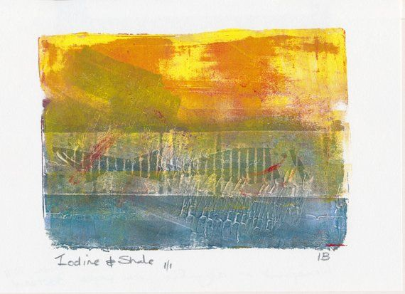 Latest In My Etsy Art Shop Iodine And Shale Monoprint Made With