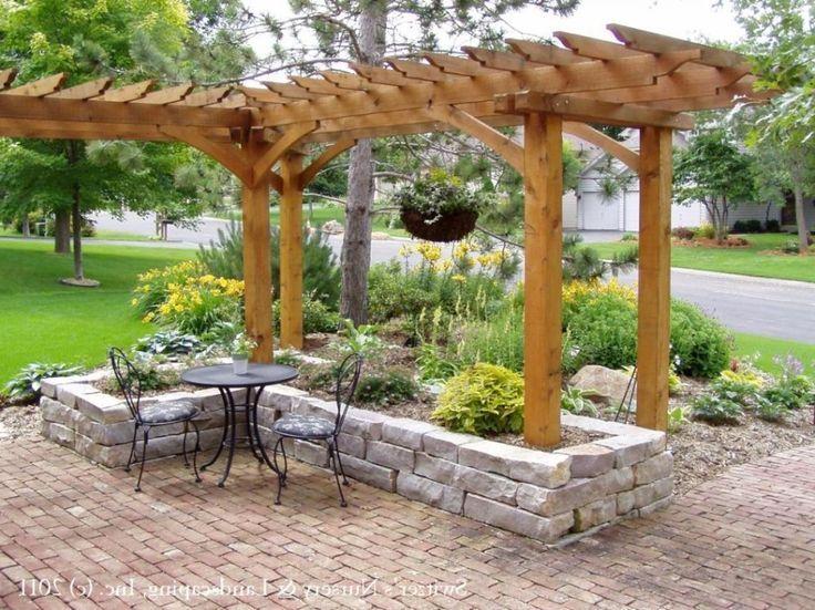 arbor for patio corner