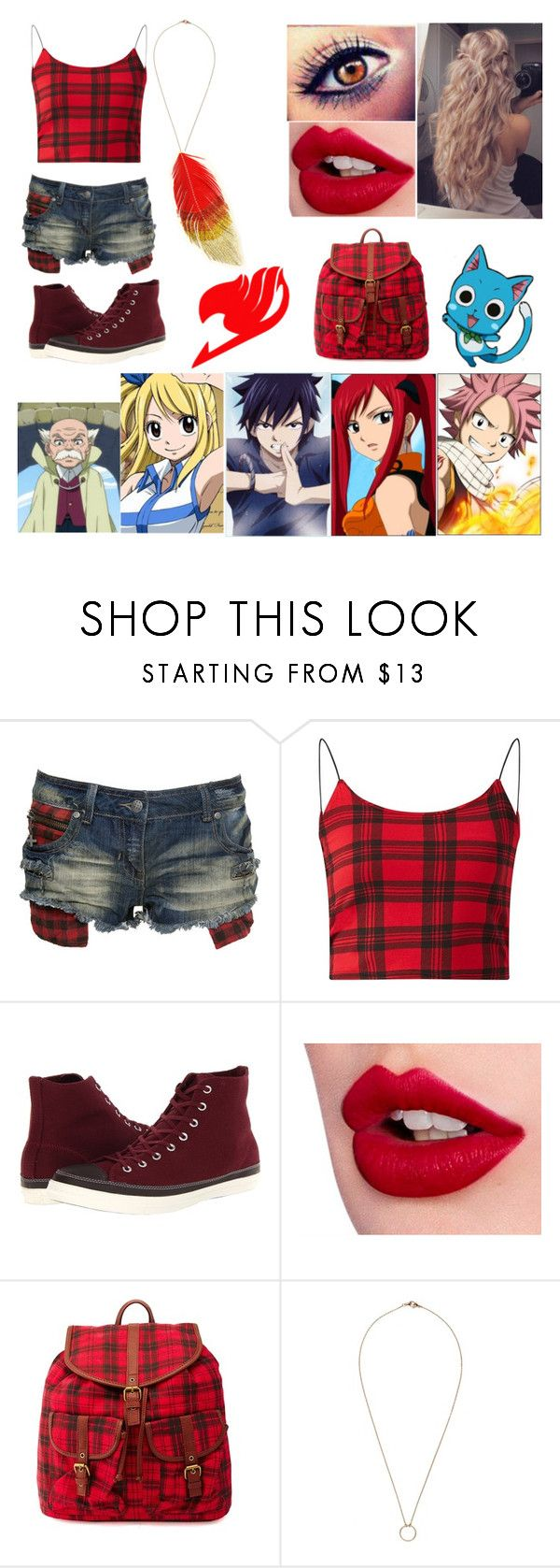 """first job"" by kathy-the-wolf-lover ❤ liked on Polyvore featuring Crafted, Parisian, Converse, Charlotte Tilbury and Charlotte Russe"