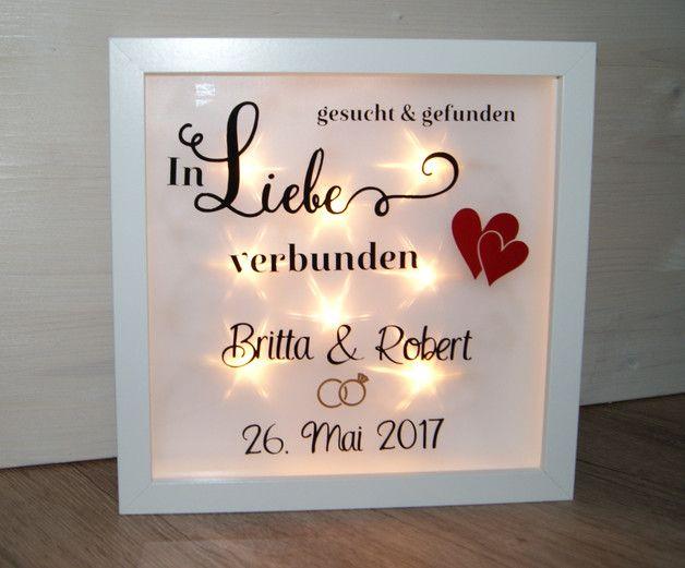 Pin von Schmid auf Beleuchteter Bilderrahmen Hochzeit ...