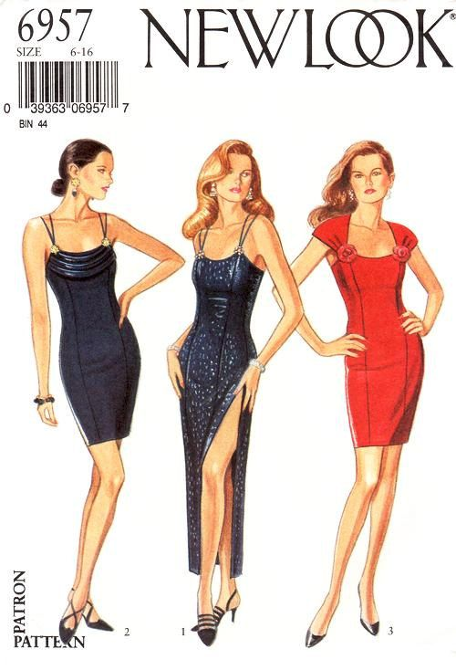 90's New Look Dress Pattern 6957   Misses' by ThePatternSource, $22.00