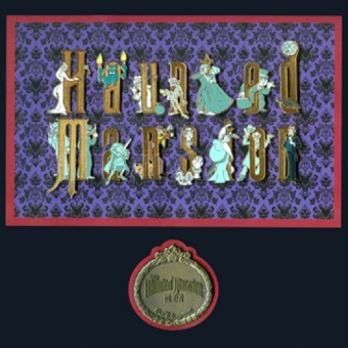 Haunted Mansion Framed Disney Pin set.  I want this!