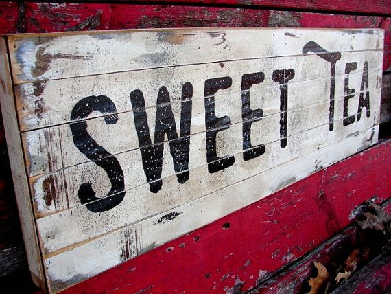 Vintage sweet tea sign farmhouse decor by FarmHandsDesigns on Etsy