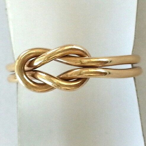 Love Knot Ring - LOVERS KNOT RING - 14k Gold Filled & Sterling Silver knot ring - Gold knot ring - Sailor knot - Double strand knot ring