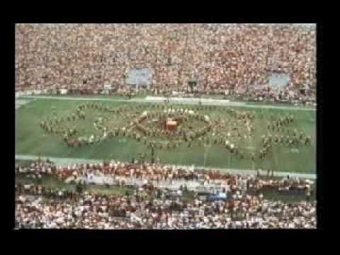 """james brown (in the center on that block stage) at practically every home UGA football game in 1978  singing """"dooley's  junkyard dawgs"""""""