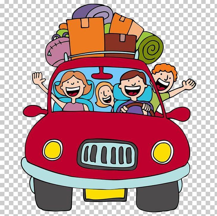 Vacation Road Trip Cartoon Png Art Car Download Driving Family Cartoons Png Vacation Road Trips Road Trip