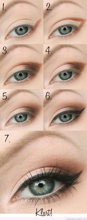 Makeup Artist ^^ | https://pinterest.com/makeupartist4ever/ Step by Step Smokey Eye Tutorials - Nude and Black Smokey Eye - Step by Step Tutorials on How to Apply Different Eyeshadows for Smokey Eyes - Awesome Looks for Brown, Black, and Blue Eyes, Natural Looks, and Looks for All Types of Lashes - thegoddess.com/step-by-step-smokey-eye