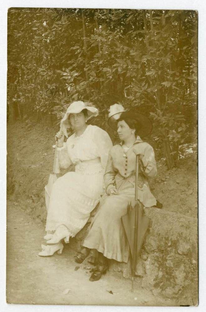 DONNE ALLA MODA-STYLISH WOMEN F189 Vecchia Foto d Epoca Old Photo Vintage 1920
