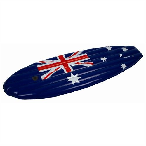 AirTime Inflatable AUSTRALIAN FLAG SURFBOARD AIR MAT 150X53CM Water Pool Fun - Promotional Offers- - TopBuy.com.au