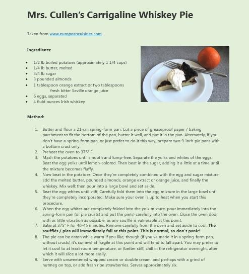 Carrigaline Whiskey Pie