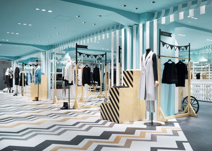 Nendo overhauls womenswear area of Japanese department store, adding pastel colours and zig-zag patterns