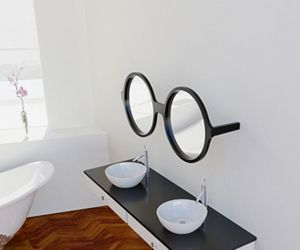 For the optometrist in your life:) Such fun mirrors!