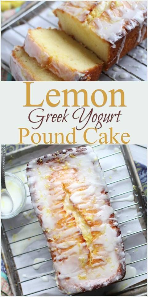 Lemon Greek Yogurt Pound Cake