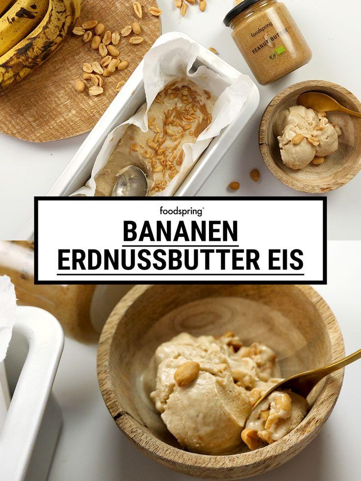 Bananen Erdnussbutter Eis