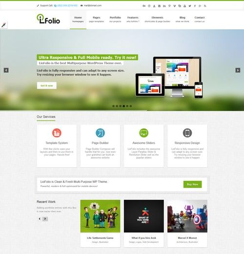 LioFolio Responsive Multi-Purpose Theme