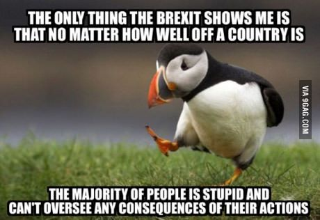 My opinion on everyone voted leave: